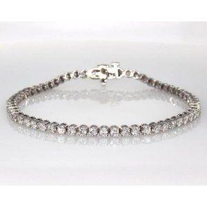 5 Carats Round Diamond Tennis Bracelet Women White